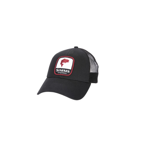 Bass Patch Trucker Black
