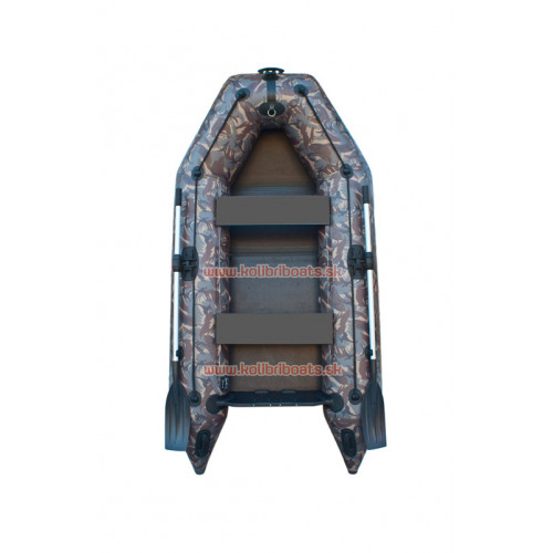 Čln Kolibri KM-280P pevná podlaha kamufláž
