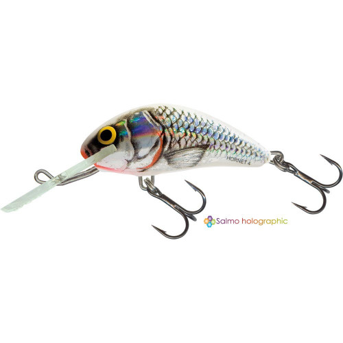 Hornet Floating 6cm Holographic Grey Shiner