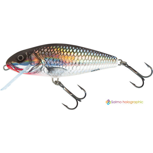 Perch Floating 12cm Holographic Grey Shiner PH12F