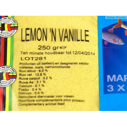 Powder Additives - Posil??ovač Citrón s vanilkou 250g