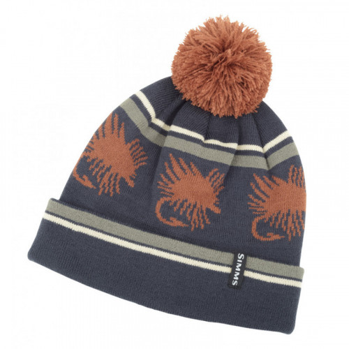 Big Hole Pom Hat Rust
