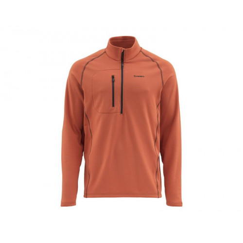 Fleece Midlayer Top L Simms Orange