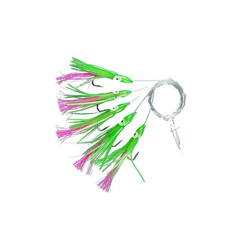 Minioctopus Red/green 5-hooks size 3/0